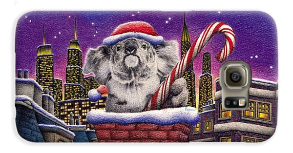 Christmas Koala In Chimney Galaxy S6 Case by Remrov