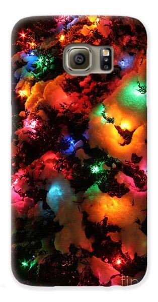 Christmas Lights Coldplay Galaxy S6 Case by Wayne Moran