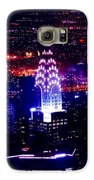 Chrysler Building At Night Galaxy S6 Case by Az Jackson