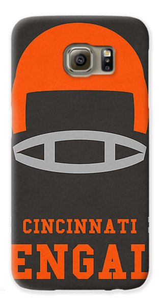 Cincinnati Bengals Vintage Art Galaxy S6 Case by Joe Hamilton