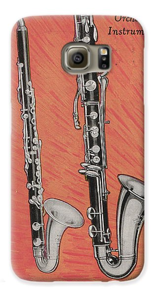 Clarinet And Giant Boehm Bass Galaxy S6 Case by American School