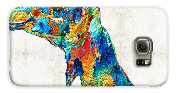 Colorful Camel Art By Sharon Cummings Galaxy S6 Case by Sharon Cummings