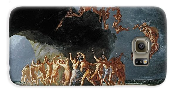 Come Unto These Yellow Sands Galaxy S6 Case by Richard Dadd