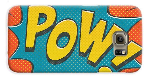 Comic Pow Galaxy S6 Case by Mitch Frey