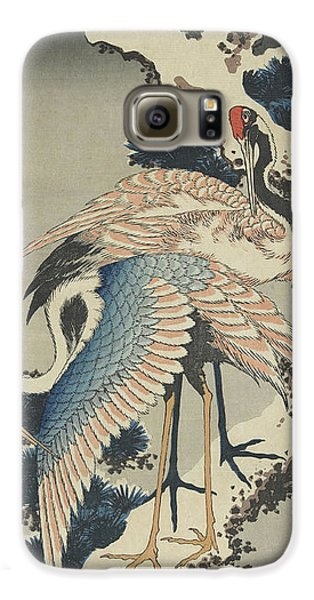 Cranes On Pine Galaxy S6 Case by Hokusai