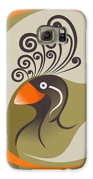 crestedAUKLET Galaxy S6 Case by Mariabelones ART