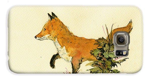 Cute Fox In The Forest Galaxy S6 Case by Juan  Bosco