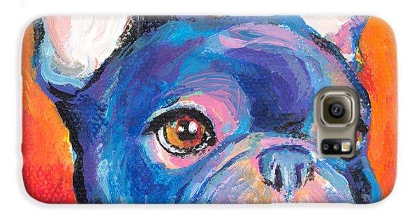 Cute French Bulldog Painting Prints Galaxy S6 Case by Svetlana Novikova