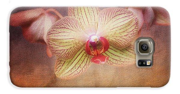 Cymbidium Orchid Galaxy S6 Case by Tom Mc Nemar