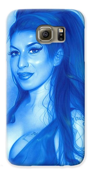 Amy Winehouse - 'daddy's Girl' Galaxy S6 Case by Christian Chapman Art
