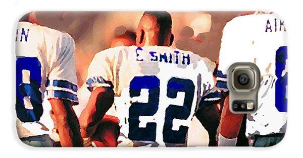 Dallas Cowboys Triplets Galaxy S6 Case by Paul Van Scott