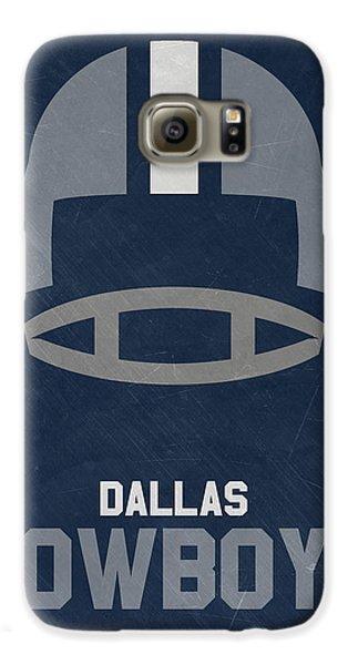 Dallas Cowboys Vintage Art Galaxy S6 Case by Joe Hamilton