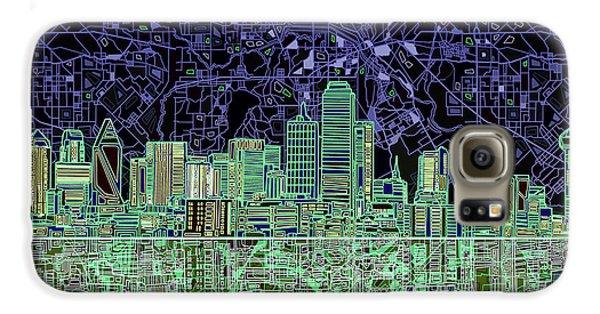 Dallas Skyline Abstract 4 Galaxy S6 Case by Bekim Art