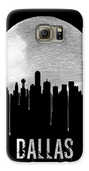 Dallas Skyline Black Galaxy S6 Case by Naxart Studio