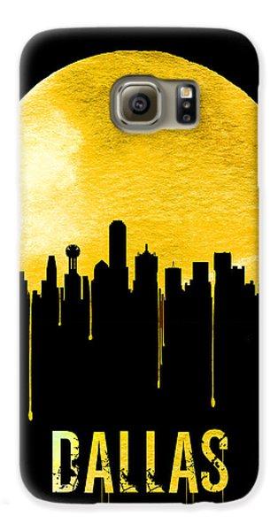 Dallas Skyline Yellow Galaxy S6 Case by Naxart Studio
