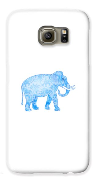 Damask Pattern Elephant Galaxy S6 Case by Antique Images