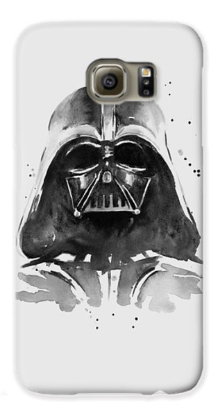 Darth Vader Watercolor Galaxy S6 Case by Olga Shvartsur