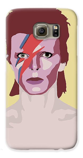 David Bowie Galaxy S6 Case by Nicole Wilson