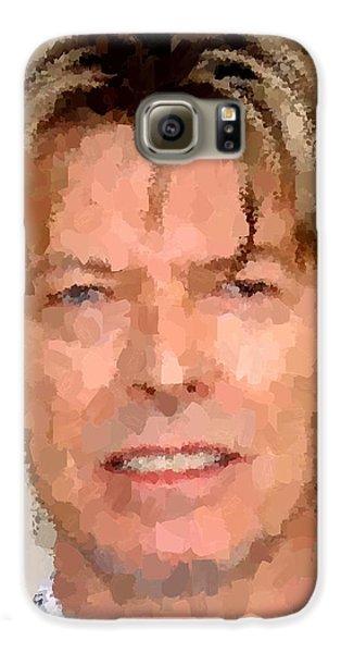 David Bowie Portrait Galaxy S6 Case by Samuel Majcen