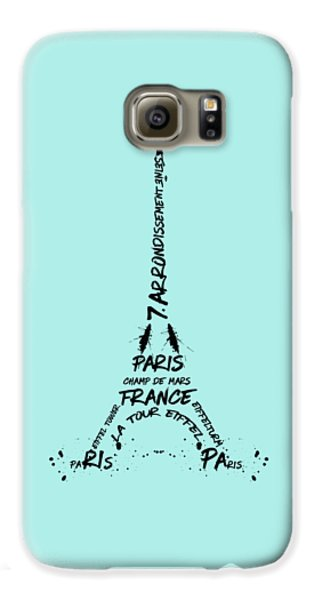 Digital-art Eiffel Tower Galaxy S6 Case by Melanie Viola