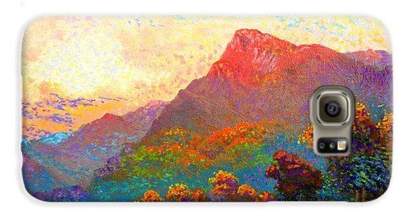 Buddha Meditation, Divine Light Galaxy S6 Case by Jane Small