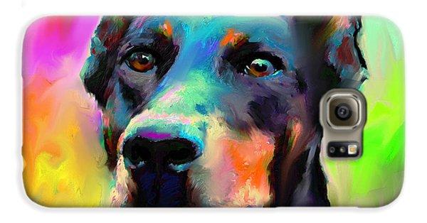 Doberman Pincher Dog Portrait Galaxy S6 Case by Svetlana Novikova