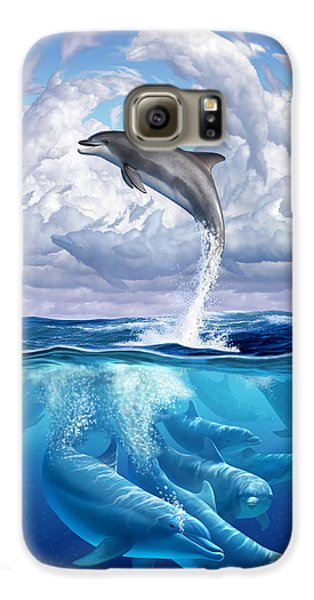 Dolphonic Symphony Galaxy S6 Case by Jerry LoFaro