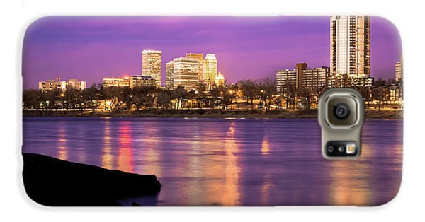 Downtown Tulsa Oklahoma - University Tower View - Purple Skies Galaxy S6 Case by Gregory Ballos