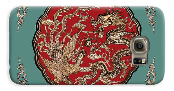 Dragon And Phoenix Galaxy S6 Case by Kristin Elmquist