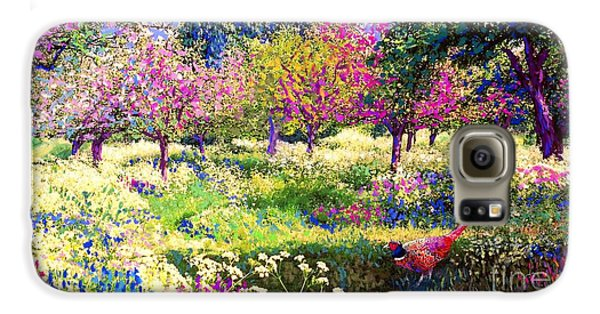 Echoes From Heaven, Spring Orchard Blossom And Pheasant Galaxy S6 Case by Jane Small