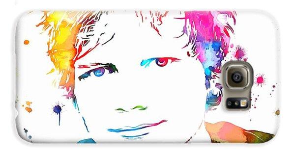 Ed Sheeran Paint Splatter Galaxy S6 Case by Dan Sproul