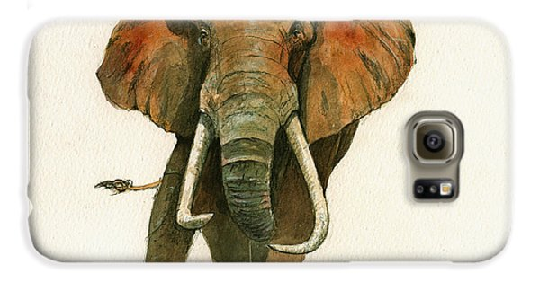 Elephant Painting           Galaxy S6 Case by Juan  Bosco