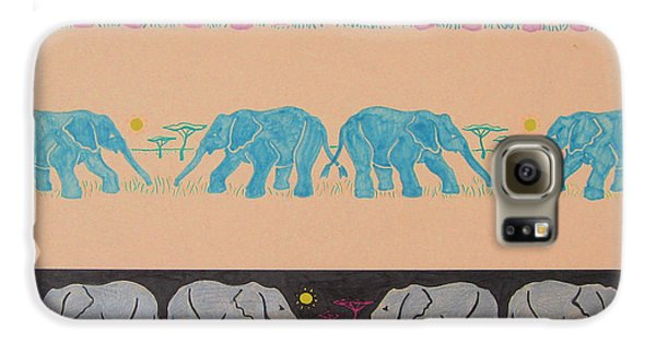 Elephant Pattern Galaxy S6 Case by John Keaton