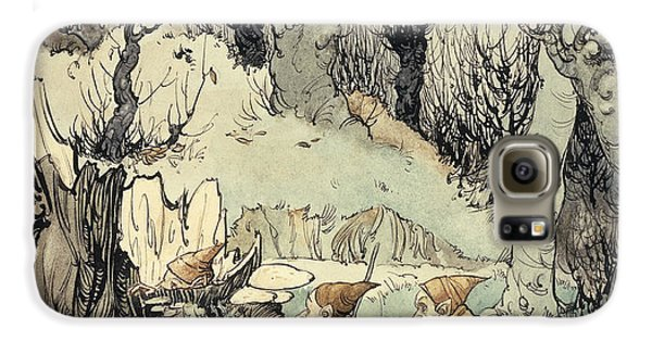 Elves In A Wood Galaxy S6 Case by Arthur Rackham