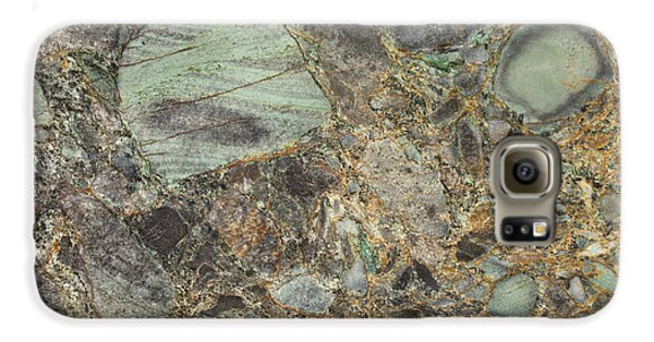 Emerald Green Granite Galaxy S6 Case by Anthony Totah