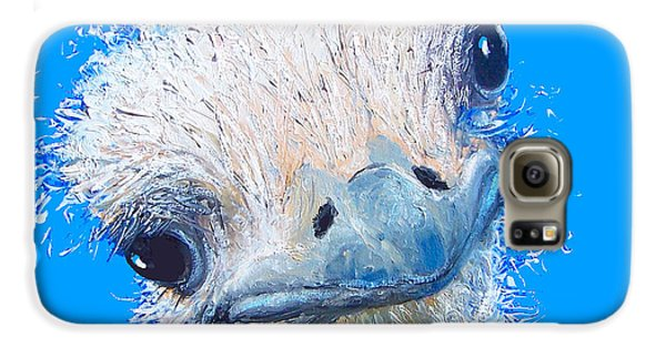 Emu Painting Galaxy S6 Case by Jan Matson