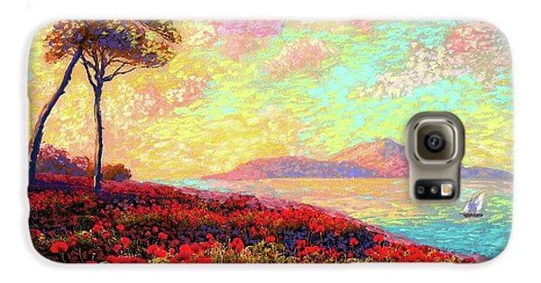 Enchanted By Poppies Galaxy S6 Case by Jane Small