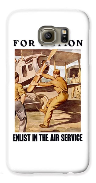 Enlist In The Air Service Galaxy S6 Case by War Is Hell Store