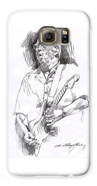 Eric Clapton Blue Galaxy S6 Case by David Lloyd Glover
