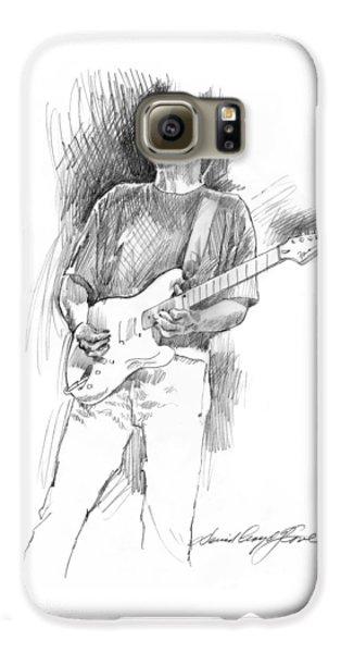 Eric Clapton Strat Galaxy S6 Case by David Lloyd Glover