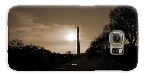 Evening Washington Monument Silhouette Galaxy S6 Case by Betsy Knapp