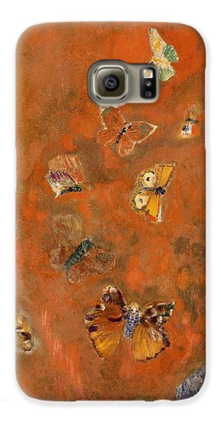 Evocation Of Butterflies Galaxy S6 Case by Odilon Redon