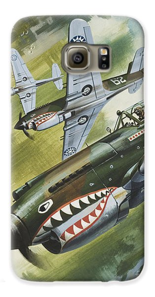 Famous Aircraft And Their Pilots Galaxy S6 Case by Wilf Hardy