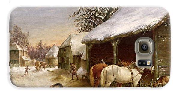 Farmyard In Winter  Galaxy S6 Case by Henry Woollett