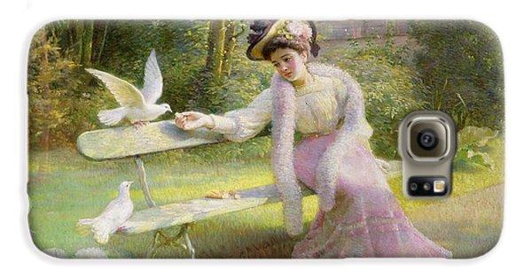 Feeding The Doves  Galaxy S6 Case by Edmond Alphonse Defonte