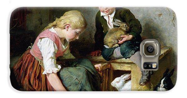 Feeding The Rabbits Galaxy S6 Case by Felix Schlesinger