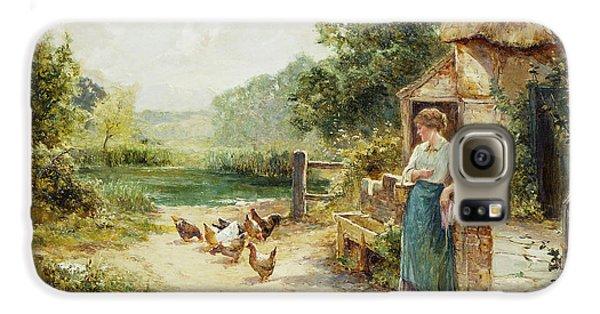Feeding Time Galaxy S6 Case by Ernest Walbourn