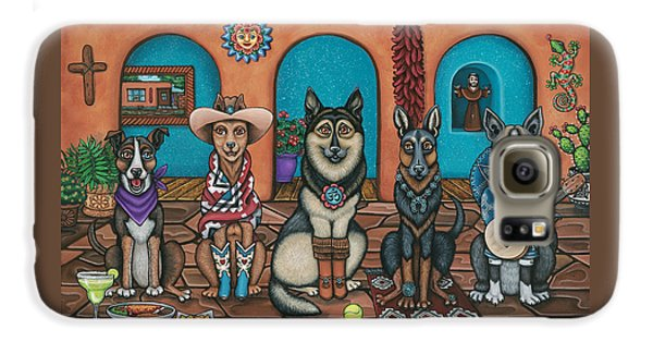 Fiesta Dogs Galaxy S6 Case by Victoria De Almeida
