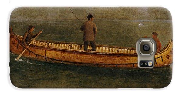 Fishing From A Canoe Galaxy S6 Case by Albert Bierstadt