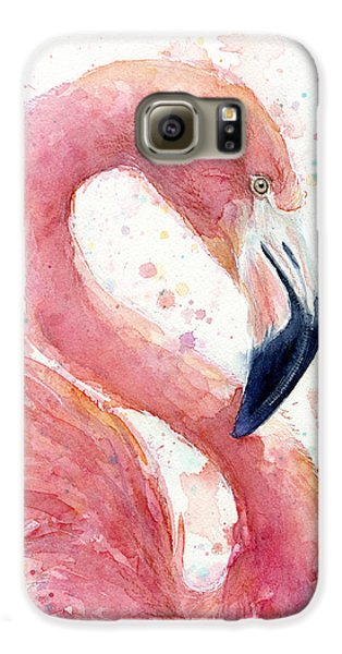 Flamingo - Facing Right Galaxy S6 Case by Olga Shvartsur